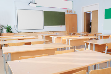 Interior of a school class