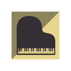 piano instrument isolated icon vector illustration design