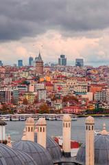 Deurstickers Turkije Panoramic view of Galata tower in Istanbul, Turkey