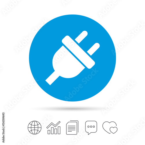 "Plug Power Stock Quote: ""Electric Plug Sign Icon. Power Energy Symbol."" Stock"