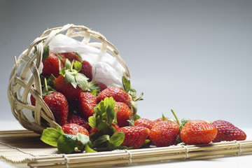 A Basket of Fruits with Strawberries