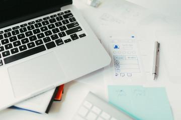 Cluttered Desk Of A Designer