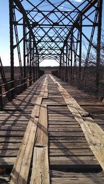 Old Wooden Plank Railway Bridge