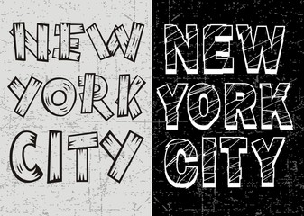 Vintage New York Typography Design, Vector.