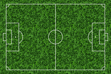 Football, soccer green grass field vector background