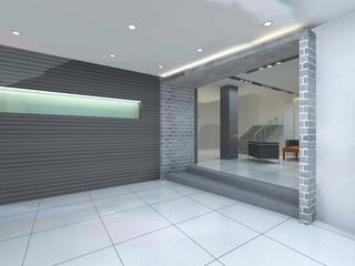 rendering empty lobby interior.