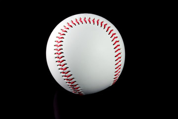 Baseball with brown background