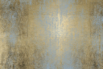 scratched golden foil texture Wall mural