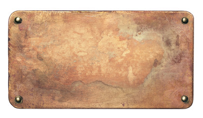 Wall Mural - Old copper plate background
