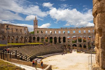 Fotomurales - ancient arena in Pula, Croatia