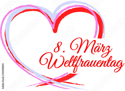 """""""8. März Weltfrauentag"""" Stock image and royalty-free ..."""