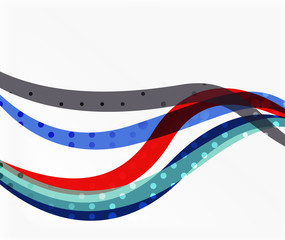 Vector abstract wave lines background