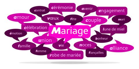 Nuage de Mots Mariage v3