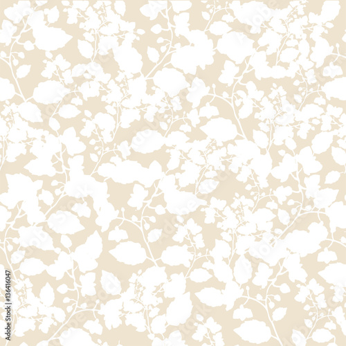 Cute Simple Pattern With Wildflowers Shabby Chic Vintage Provence Seamless Floral