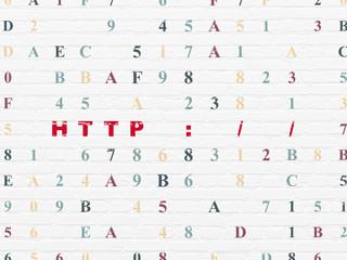 Web design concept: Http : / / on wall background