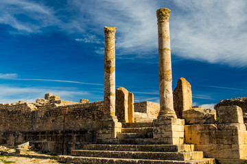 A ruined ancient city in Tunisia