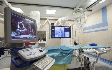surgery room bed scanner equipment