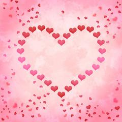 Liebe Valentinstag Herz mit Herzen
