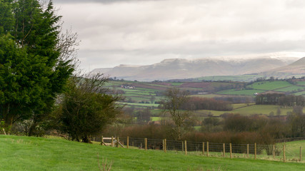 Welsh countryside and the Brecon Beacons