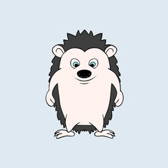 Vector baby hendehoh. Cartoon illustration