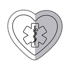 symbol medicine inside heart icon, vector illustration design