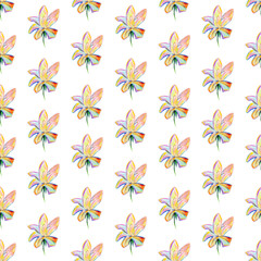 modern flowers background isolated