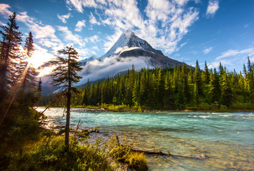 Photo sur Toile Canada Mount Robson