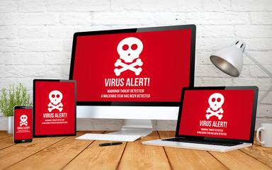 Wall Mural - virus screen multidevices