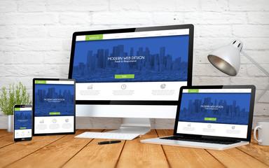 Wall Mural - modern web design screen multidevices