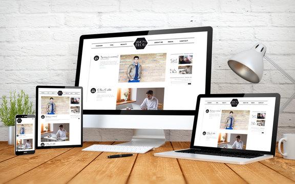 modern blog screen multidevices
