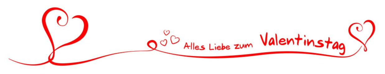Rot Alles Liebe zum Valentinstag Herzen Liebe Design Element Schwung Banner