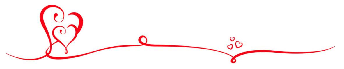 Rote Herzen Panorama Liebe Design Element Banner