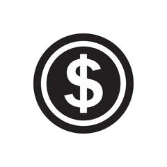 dollar coin icon.