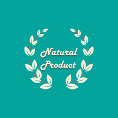 Natural product logo design vector template