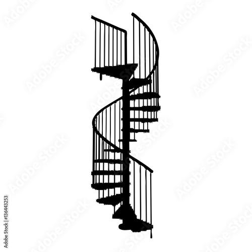 Escalera de caracol im genes de archivo y vectores for Escaleras de fierro para casa
