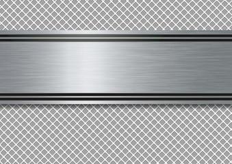 Fond - Plaque métal - Présentation - acier - Design