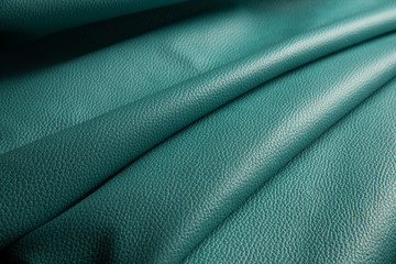 blue leather texture background close up macro