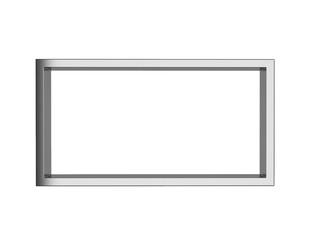 stainless picture frame isolated on white background, 3d renderi