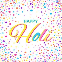 Greeting Card for Happy Holi Spring Festival with Sample Text