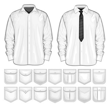 Vector collection of shirt and pockets