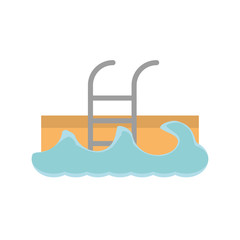 swimming pool waves icon image, vector ilustration