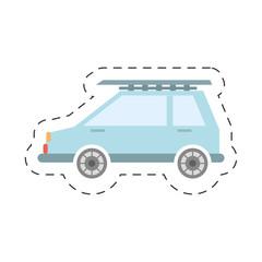 blue car trip icon image, vector illustration design