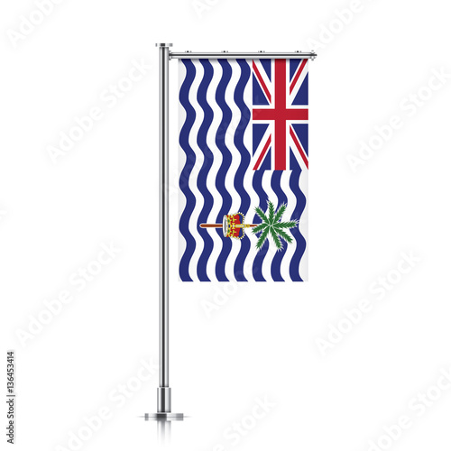 British Indian Ocean Territory vector banner flag hanging on a ...
