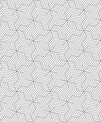 Vector seamless pattern. Modern stylish texture. Monochrome geometrical pattern of rectangular plates