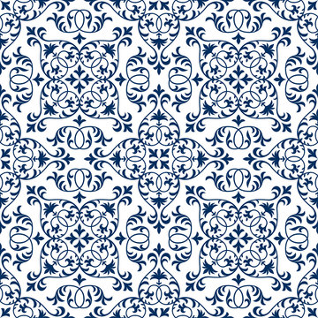 Seamless patchwork pattern from ornate tiles, ornaments. Can be used for wallpaper, pattern fills, web page background,surface textures.