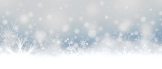 Snowfall. Snowflakes. Christmas banner with snowflakes.