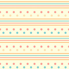 Simple seamless background with geometric pattern, vector.