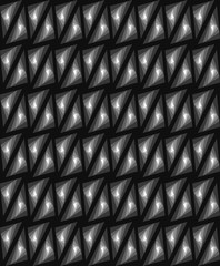 Black and white triangle pattern vector. Transition from light t