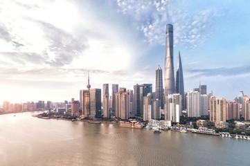 Shanghai skyline and cityscape