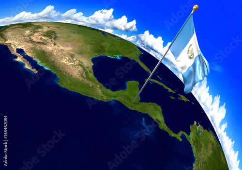 Guatemala national flag marking the country location on world map guatemala national flag marking the country location on world map 3d rendering parts of gumiabroncs